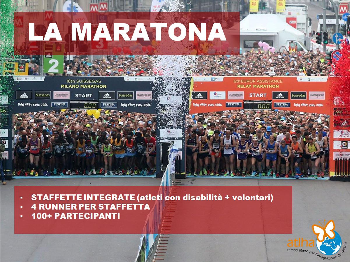 La maratona: staffette integrate, 4 runners per staffetta